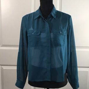 Wet Seal button up blouse in teal